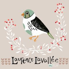 bird illustration by Laurence Lavallée aka Flo Winter Illustration, Bird Illustration, Pattern Art, How To Introduce Yourself, Illustrators, My Arts, Artist, Instagram, Friends