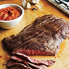 Flank Steak with Romesco Sauce - Flank Steak Recipes - Cooking Light