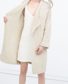 Image 2 of LONG KNITTED CARDIGAN from Zara