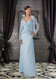 Sheath Floor-length Chiffon Mother's Dresses 13606513