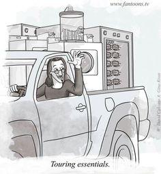 Rush, touring essentials