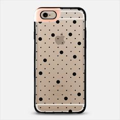 Pin Point Polka Dot Black Transparent METALUXE | @casetify Use code 5UUFAR for $10 off case and FREE shipping
