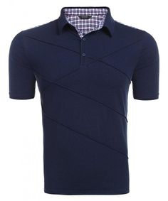 Buy Men's Shirts Short Sleeve Shirt Slim Fit Tech Performance Golf Polo - Champlain Color - Shop the latest collection of Men's Shirts from the most popular stores. Polo Shirts With Pockets, Polo T Shirts, Short Sleeve Polo Shirts, Shirt Sleeves, Mens Clothing Sale, Men's Clothing, Mens Back, Golf Fashion, Fashion Men