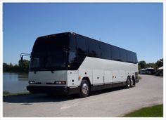 The ultimate in travel.This type of vehicle can easily seat 35 passengers in comfort and style.