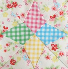 Love the gingham in this block by Pretty by Hand ღ