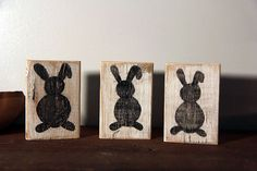 Easter Bunny Blocks by SimpleRemnant on Etsy