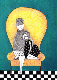Mother by 'Handmade by Radhika'. #poster #illustration #motherchild #mother #daughter #love