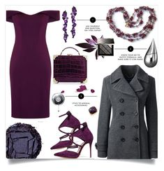 """Purple and Gray"" by celeste-menezes ❤ liked on Polyvore featuring Aloura London, Lands' End, Aspinal of London, Plukka, Anne Sisteron, Urban Decay, Burberry and La Prairie"