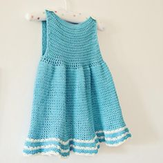 A-line Dress, crochet pattern, baby, toddler