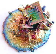 Bismuth crystal | Earth jewels | Pinterest | Bismuth, Crystals and Art