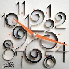 Designer: Rima Bueno - Three Dimensions of Time - Paper clock (quilling)! Diy Paper, Paper Art, Paper Crafts, Quilling Designs, Paper Quilling, Paper Clock, Neenah Paper, Papier Diy, Quilled Creations