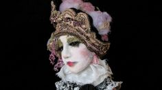 VIOLETTAOOAK suspended mixed media  Art Doll by NitaAngeletti, $2200.00