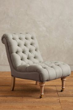 Linen Orianna Slipper Chair - #anthroregistry