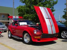 Datsun 280Z Red with silver stripes
