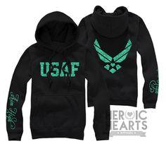 Aim High Air Force Hoodie. Love the green and black