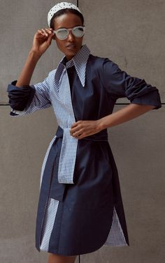 Get inspired and discover Silvia Tcherassi trunkshow! Shop the latest Silvia Tcherassi collection at Moda Operandi. Casual Hijab Outfit, Casual Dresses, Short Dresses, Fashion Dresses, Vogue Fashion, Fashion 2020, Cotton Shirt Dress, African Fashion, Cute Outfits