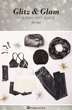 Add some sparkle to your holiday wishlist! Check out the Fabletics holiday gift guide for you and your friends.