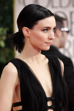 Rooney Mara; I love the way she utilizes a pony tail at a formal event