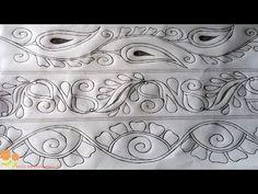 Nakshi kantha drawing design to Nokshi katha,নকশী কাথার ডিজাইন, न. Hello friends, how are you? Enjoy my another design tutorial. Border Embroidery Designs, Kurti Embroidery Design, Embroidery Patterns, Kutch Work Designs, Mehndi Art Designs, Hand Embroidery Videos, Embroidery Thread, Modern Quilting Designs, Free Hand Rangoli Design