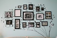 I want to do this in my new room...put pictures up of my friends and family on my bedroom wall