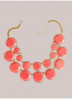 Stassi Necklace in Coral - Accessories by IGIGI
