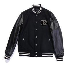 バーバリーブラックレーベルより2014年秋冬新作のスタジャンをご紹介します。 左胸には大きくBURBERRY BLACK LABELの頭文字Bがデザインされています。 詳細はこちら>http://bbl-shop.com/?pid=84770286