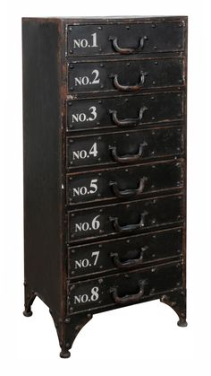 £467 Heal's | Number 8 Chest of Drawers - Chest of Drawers - Bedroom Furniture - Furniture W41 x D30 x H91cm