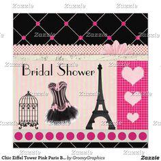 Chic Eiffel Tower Pink Paris Bridal Shower
