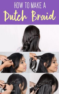 Best Hairstyles Ideas : How To Make A Dutch Braid: A Step By Step Tutorial: Here is an easy tutorial to . Best Hairstyles Ideas : How To Make A Dutch Braid: A Step By Step Tutorial: Here is an easy tutorial to . Upside Down French Braid, Two French Braids, Dutch Braids, Braided Ponytail Hairstyles, Braided Hairstyles Tutorials, Hairstyle Braid, Braided Updo, Protective Hairstyles, Trending Hairstyles