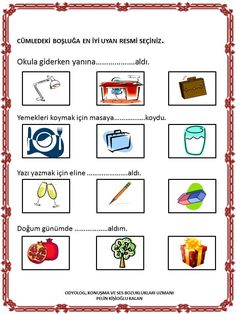 Preschool Printables, Kindergarten Activities, Activities For Kids, Learning Arabic, Kids Learning, Trauma, Oral Motor, Turkish Language, Olay