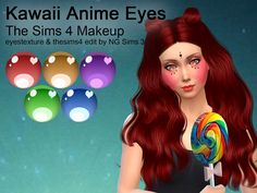 Sims 4 CC's - The Best: Kawaii Anime Eyes by NG Sims