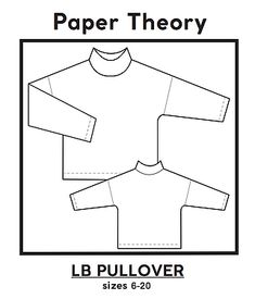 LB PULLOVER | Paper Theory Pattern
