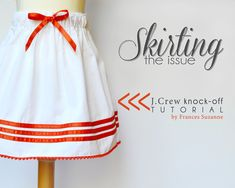 Skirting the Issue: JCrew Knock-Off Tutorial
