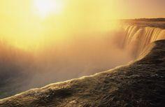 Sunset over the Falls , Niagara Falls, Ontario