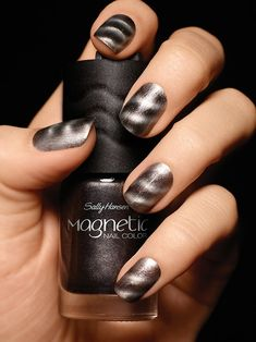 Sally Hansen magnetic nail polishes  I've tried this polish & it works. Very cool....Takes patience