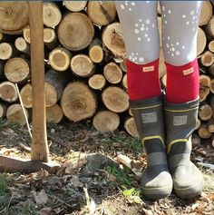 A beautiful shot of our Big Red Bus bamboo socks! @bonsaisocks #kneehigh #wellysocks