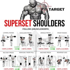 SUPERSET SHOULDER WORKOUT EXERCISE PROGRAM #virileman5