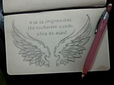 #drawing #wings #pencil #quote