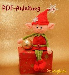 Häkelanleitung, Weihnachtself, Zwerg, Amigurumi, 18 Seiten PDF