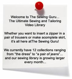 sewing tutorial { the ultimate sewing and tailoring video library}