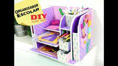 DIY/ Organizador Escolar / Especial dia das Crianças