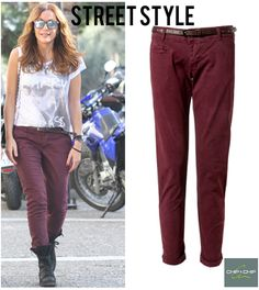 Street Style  Despina Vandi wearing her Chip&Chip baggy pant!!