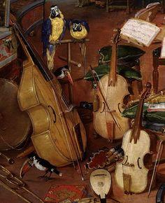 Нажмите на изображение, чтобы увидеть детали в масштабируемой контексте.  Фрагмент слушания, Яна Брейгеля Старшего и Питера Пауля Рубенса, 1617-1618