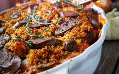 <p>This classic French dish usually calls for an abundance of different types of meat, of course this version is totally plant based. It's a warm and comforting meal, full of seasonal vegetables and delicious smoked sausage. Perfect for big gatherings!</p>
