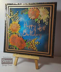 Pamela Stewart for Crafters Companion. Sheena Perfect Partners stamps and Dies. Sheena Douglass, Card Tags, Cards, Crafters Companion, Card Making Techniques, Altenew, Gerbera, Distress Ink, Cardmaking