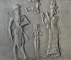 Gilgamesh, nude Goddess of Love Inanna, & goddess Ninsun, alien mother to mixed-earthling son Gilgamesh, King of Uruk for over 300 years, SEE SUMERIAN KINGS LIST TEXT