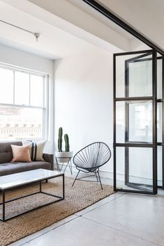 Clever crittall-window space divider