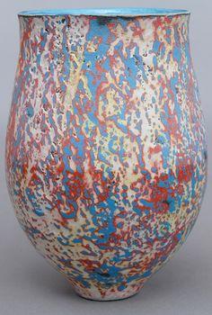 Ceramic vase by Gene Scotten.