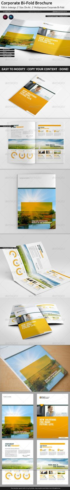 Corporate Report // Din A4 // Bi-Fold Get the source files for download: http://graphicriver.net/item/corporate-report-din-a4-bifold/5551784