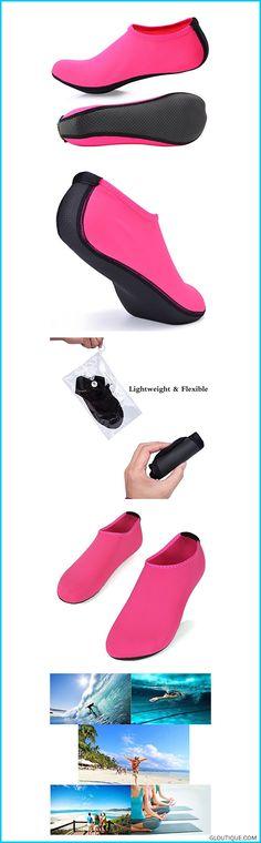 27d02711e408 JACKSHIBO Men Women Quick-Dry Water Skin Shoes Aqua Socks for